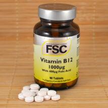 FSC B12 vitamin 1000μg, folsavval, 90db