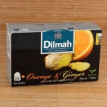 Dilmah fekete tea narancs&gyömbér ízesítéssel, 20db 1,5g-os filter