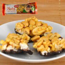 Emco földimogyoró szelet kesudióval, étcsokoládéval félig bevonva (gluténmentes), 35g
