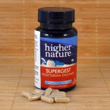 növényi emésztő enzim komplex, 30db - Higher Nature Supergest