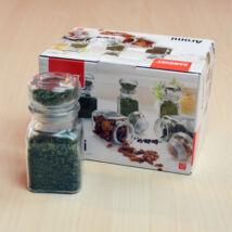 Fűszertároló üveg készlet, 6x150ml