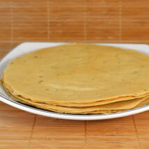 Papadam (ropogós indiai kenyérféleség, gluténmentes), fokhagymás, 200g