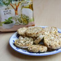 Rice Snacks puffasztott rizs, pesto + olivaolaj 50g