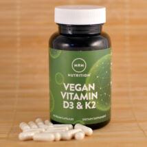 Vegán D3&K2 vitamin kapszula, 2500NE, 60db
