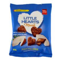 Little hearts csokoládés-kókuszos müzli szívek 50g