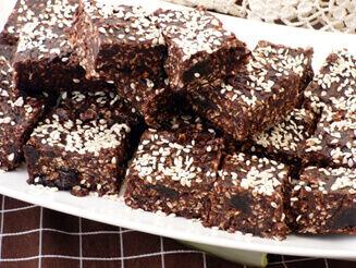 Csokoládés tahini vegán desszert recept bulkshop plantbased növényi alapú