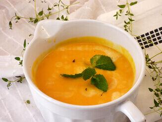 mangós tökkrémleves recept bulkshop vegán plantbased növényi alapú
