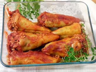 Shiitake gombával töltött paprika vegán recept bulkshop plantbased növényi alapú