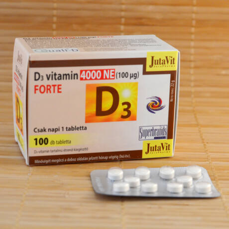 D3 vitamin 4000 NE (100mcg) tabletta, 100db