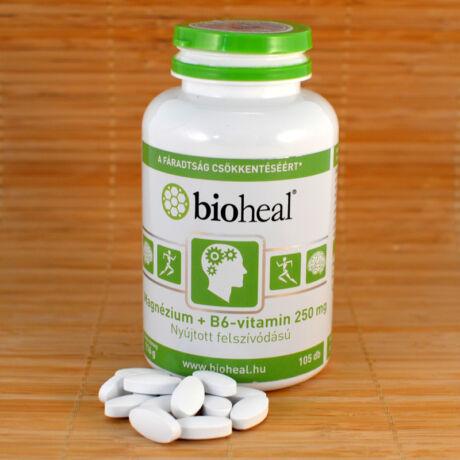 Magnézium + B6-vitamin 250mg, 105db, szerves, nyújtott felszívódású