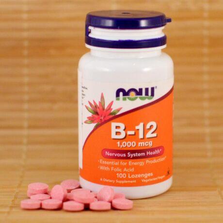 NOW b12 vitamin szopogató tabletta bulkshop