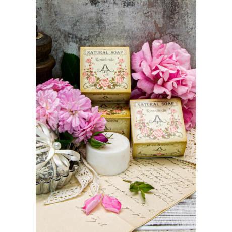 Szappan Rosalinda, rózsa illatú 75g, vegán, 100% natúr bulkshop
