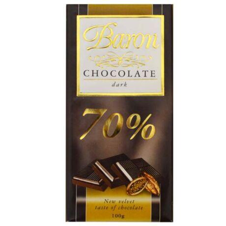 Étcsokoládé 70% Baron 100g