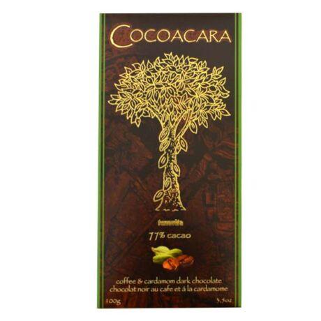 Cocoacara 77% étcsokoládé kardamom&kávé 100g