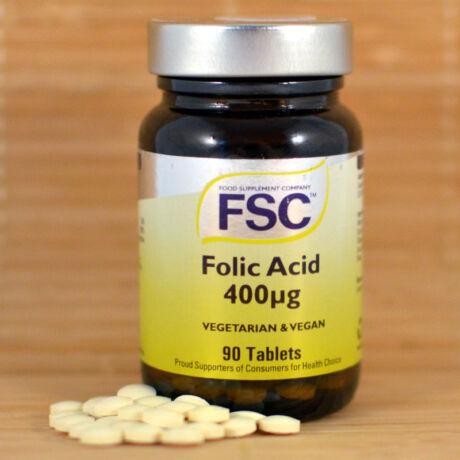Folsav tabletta 400mcg (FSC), 90db - bulkshop