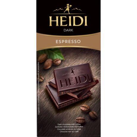 Étcsokoládé kávés Heidi Dark Espresso 80g bulkshop