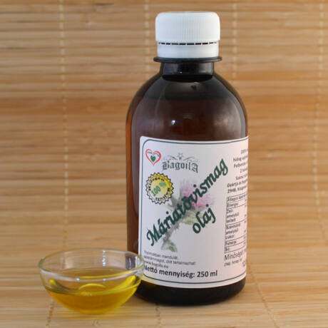 Máriatövis olaj 0,25 liter, hidegen sajtolt