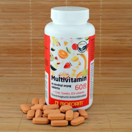 Multivitamin és ásványi anyag tabletta antioxidánsokkal bioform - bulkshop