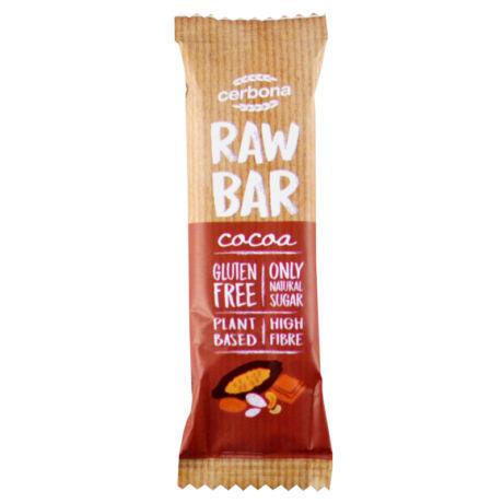 Raw Bar kakaós, kesudióval és mandulával 30g, Cerbona - Bulkshop