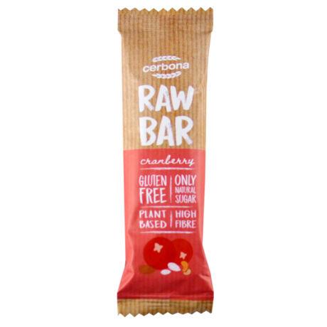Raw Bar vörösáfonyás, kesudióval és mandulával 30g, Cerbona - Bulkshop