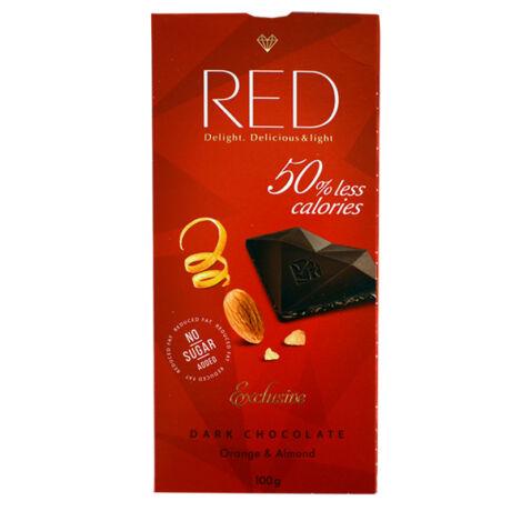 Red cukormentes étcsokoládé, narancs & mandula, 100g