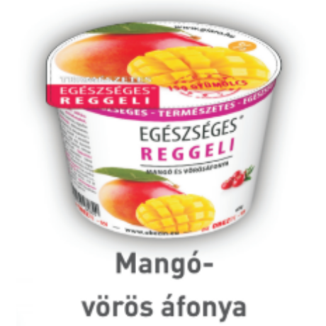Reggeli zabkása mangó-vörösáfonya 68g