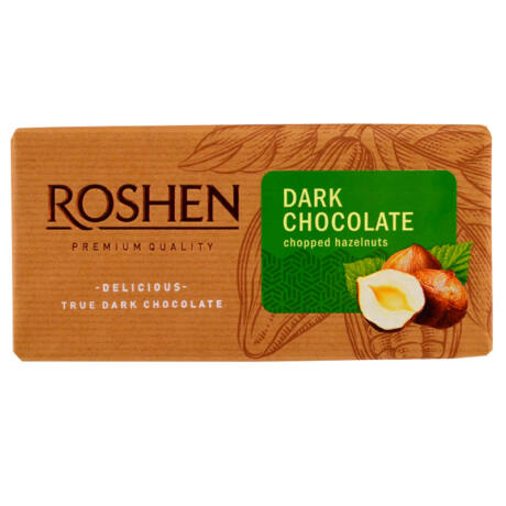 Roshen tört mogyorós étcsokoládé 90g