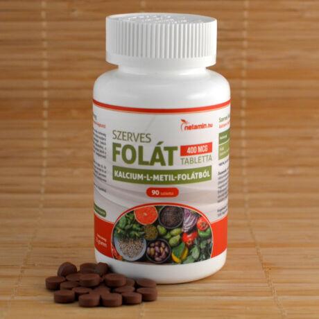 Folát tabletta, szerves, 400mcg, 90db