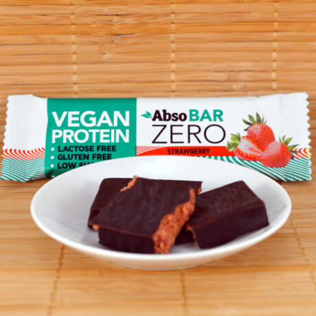 Absorice Zero vegán protein (fehérje) szelet - eper-  40g