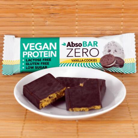Absorice Zero vegán protein (fehérje) szelet - vaníliás keksz - 40g