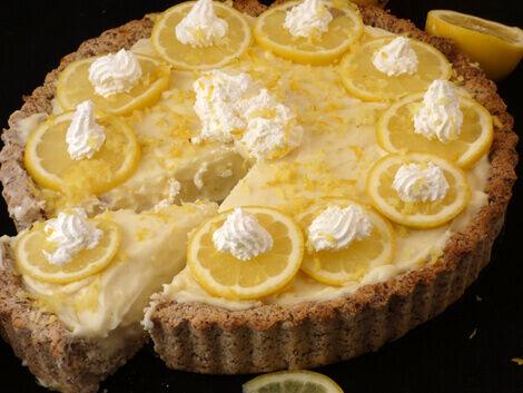 vegán citromos pite recept bulkshop plantbased növényi alapú étrend