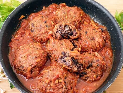 vegán feketebab-gombócok recept bulkshop növényi alapú