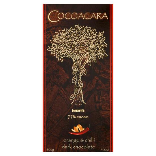 Cocoacara 77% étcsokoládé narancs&chili 100g